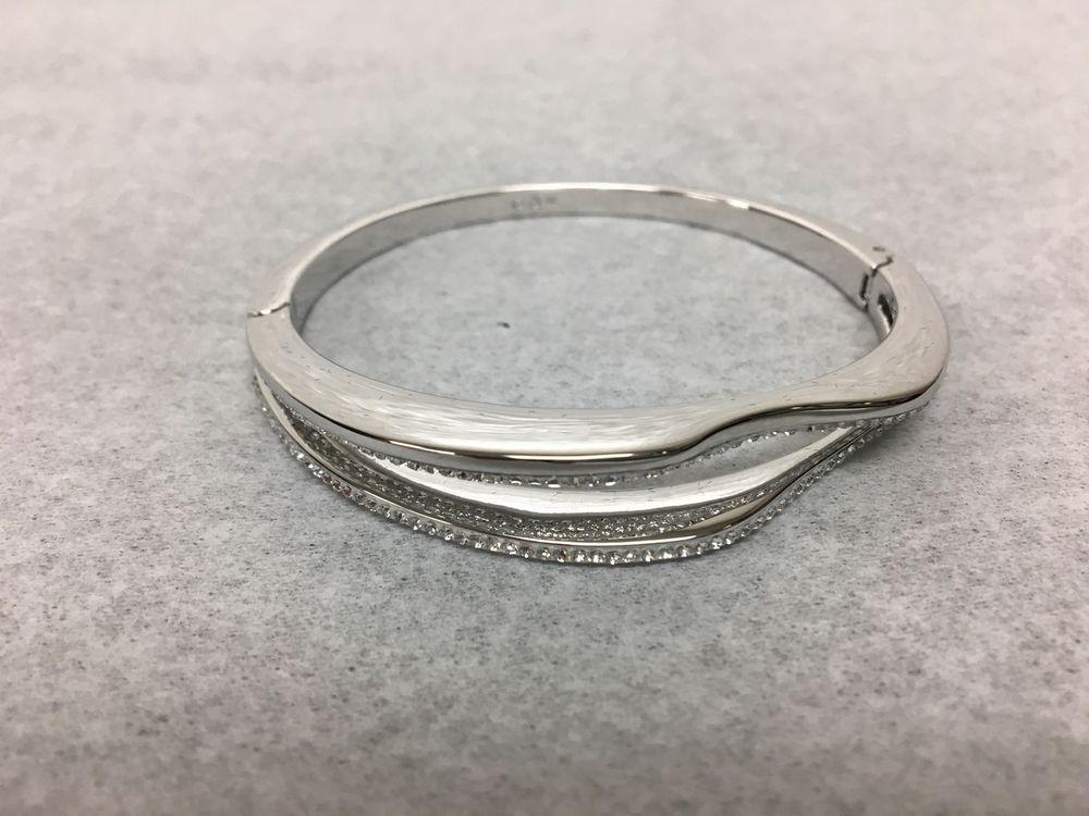 37b12728305bd eBay #Sponsored SWAROVSKI Women's Hilly Narrow Bangle Bracelet White ...