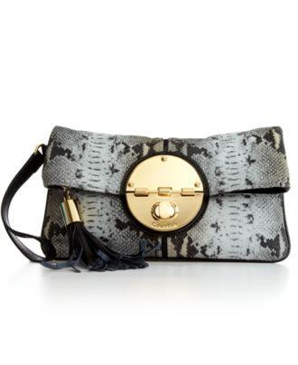 Calvin Klein Handbag, Snake Clutch - Clutches & Evening Bags - Handbags & Accessories - Macy's