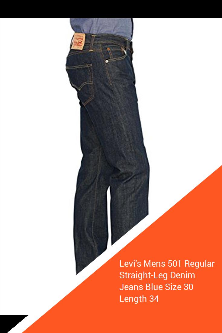 c481d97feac5a0 Levi's Mens 501 Regular Straight-Leg Denim Jeans Blue Size 30 Length ...