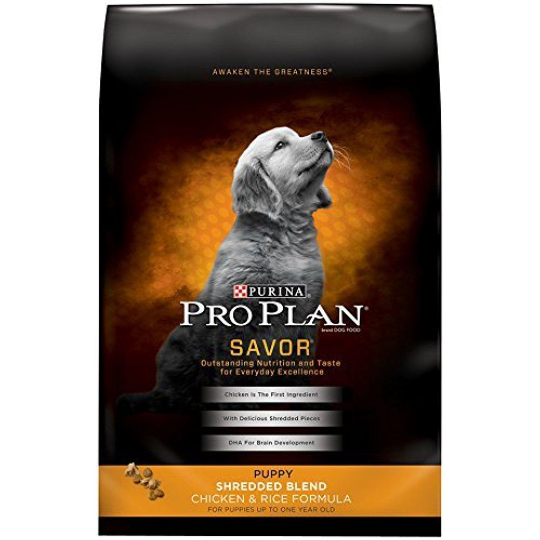 Pro Plan Savor Shredded Blend Chicken Rice Puppy Food 6 Lbs