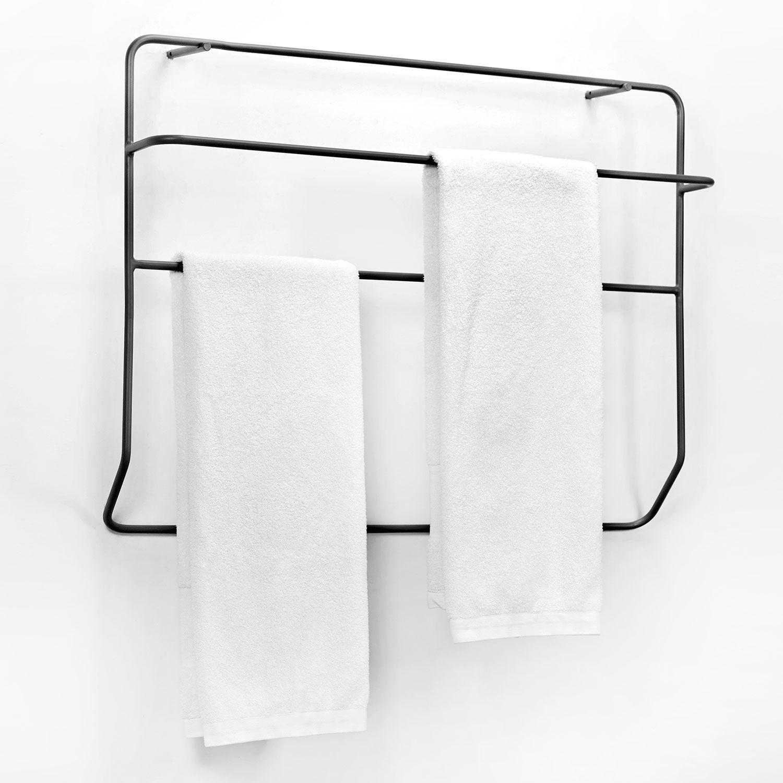 Bathroom Wall Aer: Juno Wall Handdukshållare, Svart In 2019