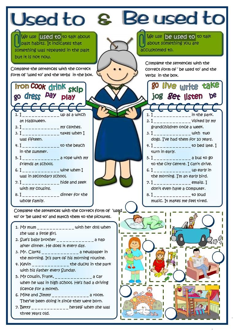 Used To Be Used To Worksheet Free Esl Printable Worksheets Made By Teachers English Grammar English Lessons English Exercises [ 1079 x 763 Pixel ]