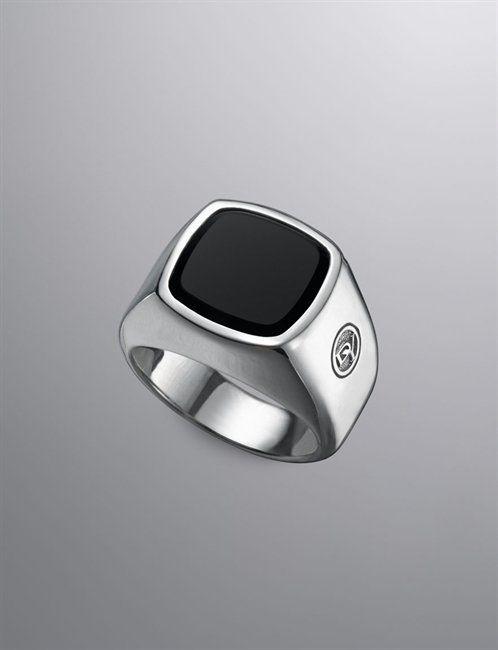 Argent Sterling 925 MEN/'S Look vintage design noir onyx ring sz 11