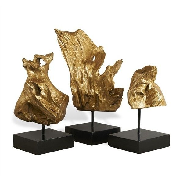 Anyar Teak Root Trio – Gold By Interlude found on Polyvore