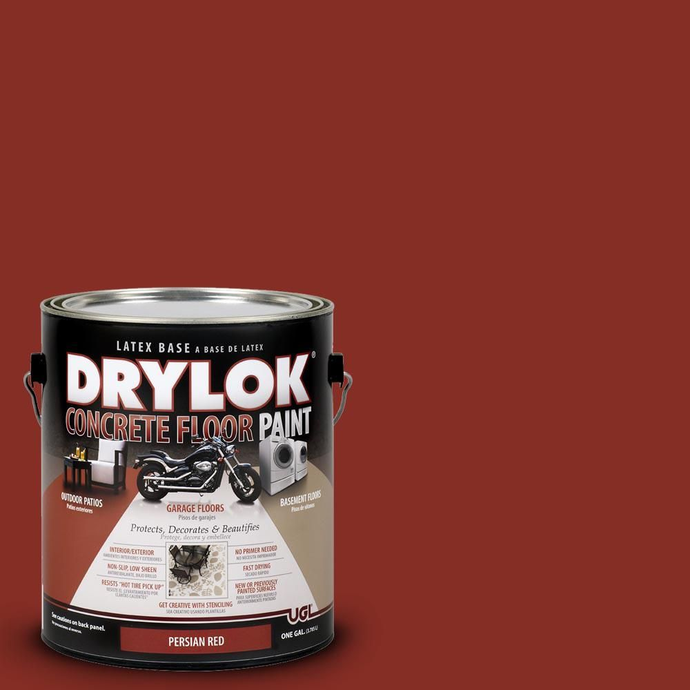 Drylok 1 Gal Persian Red Water Based Floor Paint In 2019