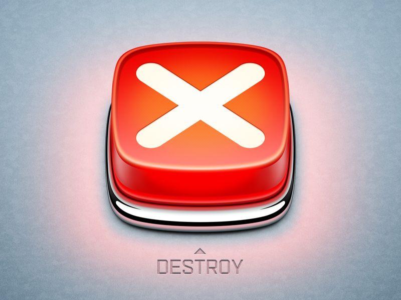Destroy app icon App icon, App icon design, Icon design