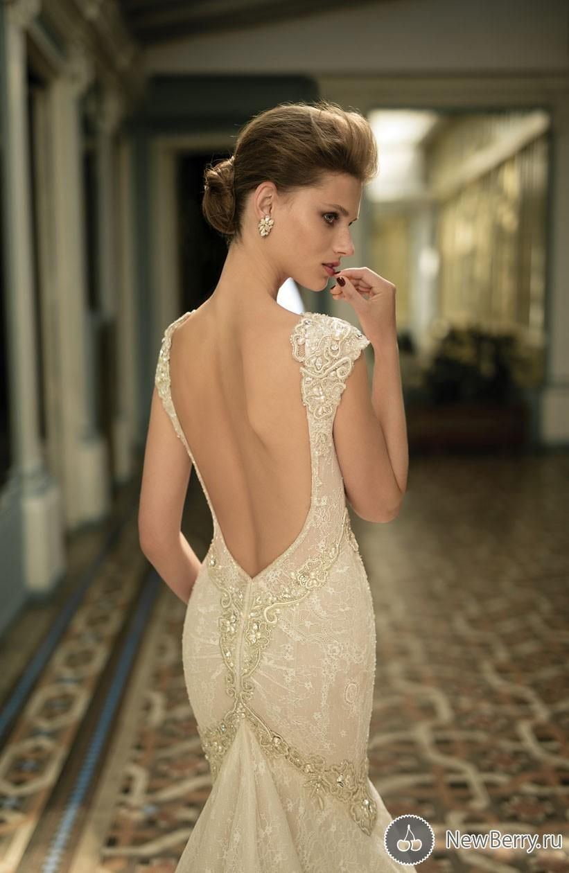 Berta wedding dresses with cap sleeves new arrival plunging