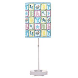 Sweet Baby Boy Squares Lamp