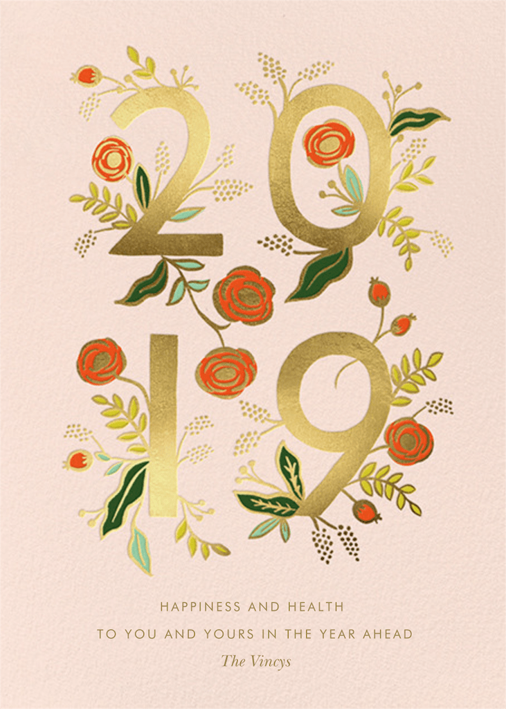 Happy New Year's Cards from Paperless Post New year card
