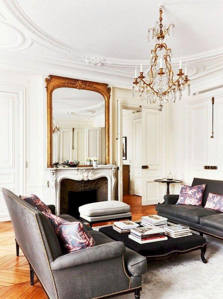 Amazing Living Room Designs: 103+ Amazing Parisian Chic Apartment Decor Ideas