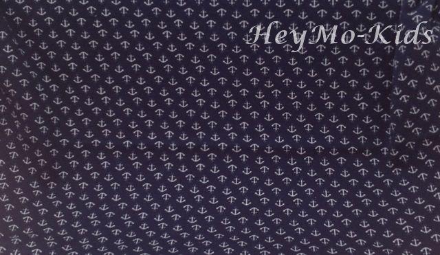 Jersey Baumwolle Stretch Stoff * Anker  blau * von HeyMo Kids auf DaWanda.com
