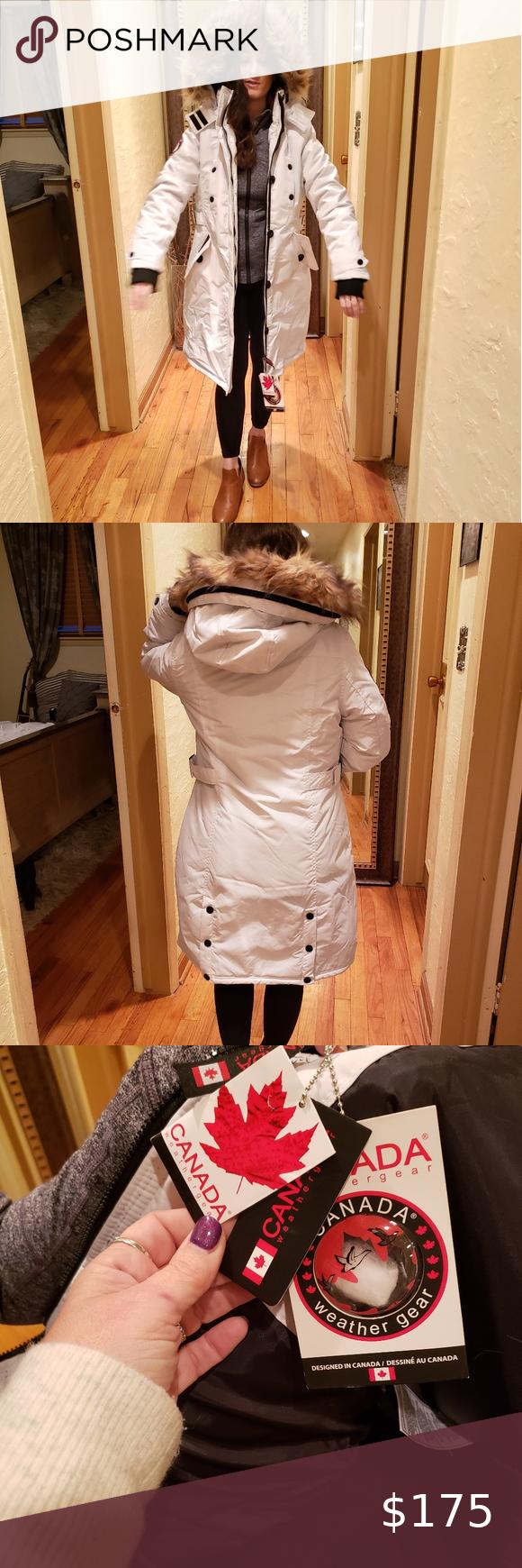 Canada Weather Gear Jacket W Faux Fur Hood Faux Fur Hood Fur Hood Clothes Design [ 1740 x 580 Pixel ]