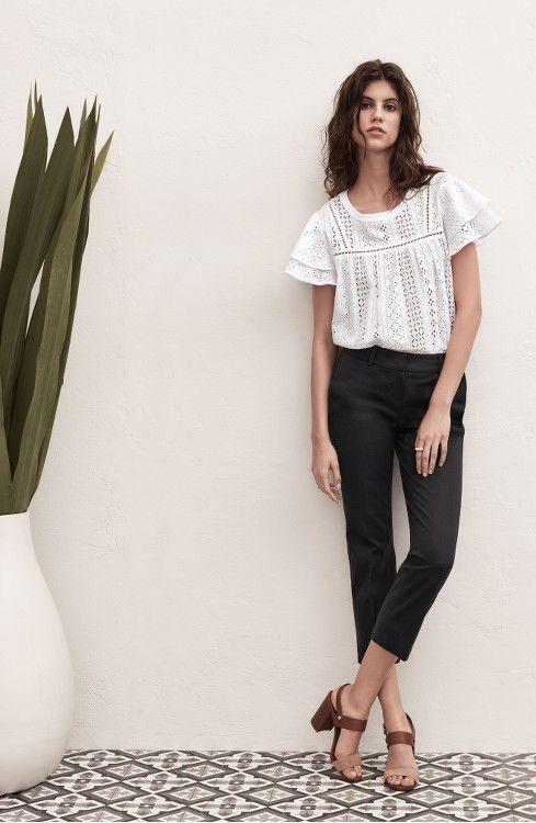 1e9326ac5f Main Image - Halogen® Crop Stretch Cotton Pants (Regular   Petite ...