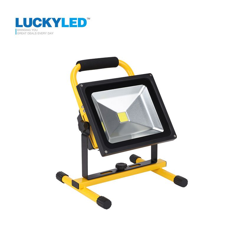 Luckyled rechargeable led flood light 30w portable outdoor luckyled rechargeable led flood light 30w portable outdoor spotlight emergency light camping lamp floodlihgt with dc mozeypictures Gallery