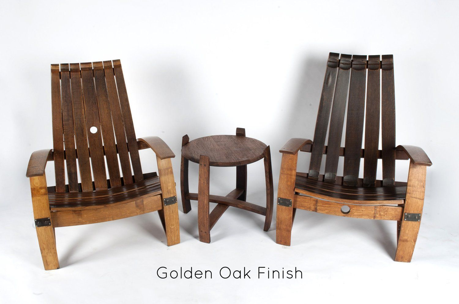 4 Piece Wine and Whiskey Barrel Patio Sets / Winter ...