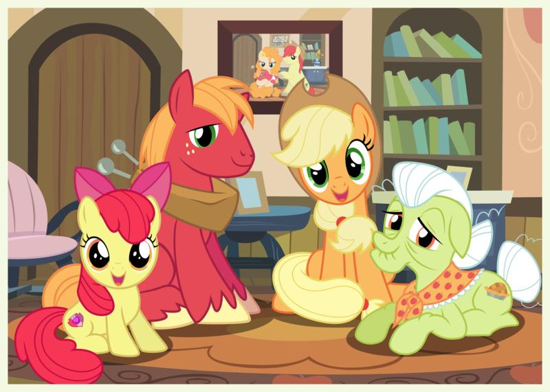 картинки пони эпл джек и ее семья эти стихи