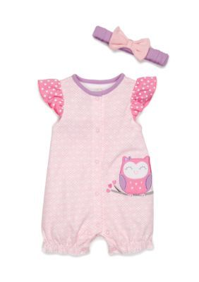 Nursery Rhyme Pink 2-Piece Owl Belle Jumper Set