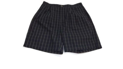 Tommy Hilfiger Mens Classic Navy Blue Hunter green Plaid GOLF Shorts Size 32