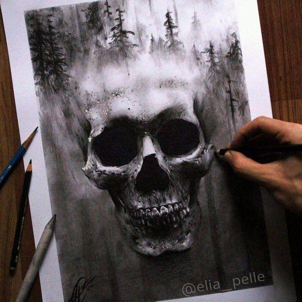 Wall Tattoo Halloween Skull Bone Skull Hand Skeleton 517