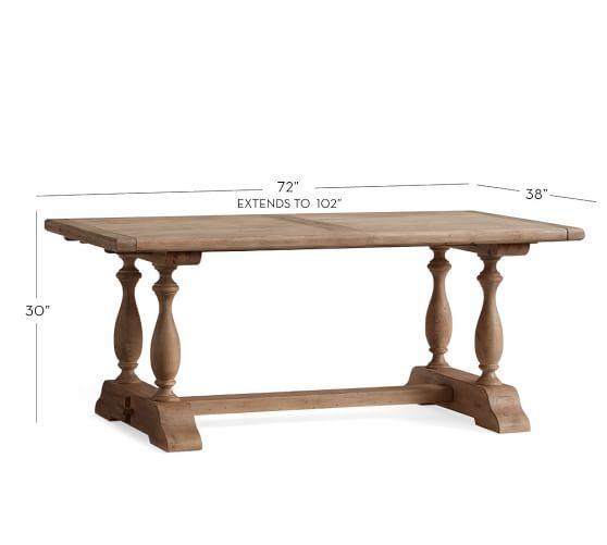 Parkmore Reclaimed Wood Extending Dining Table Da Crib