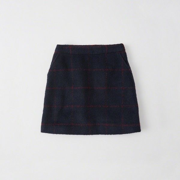 3d9ecb96f8 Abercrombie & Fitch Plaid A-Line Mini Skirt (€41) ❤ liked on ...