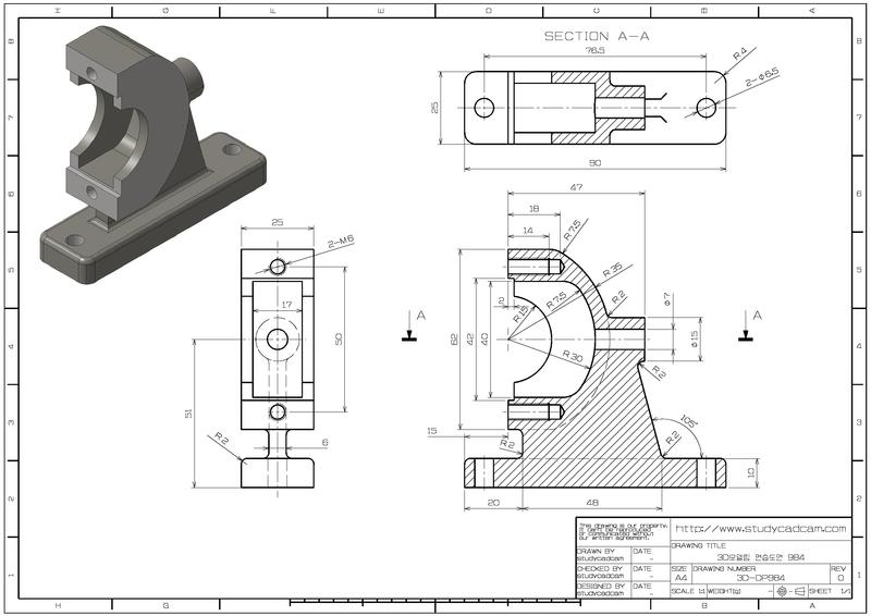 학습자료 3d 연습도면 3d모델링 연습도면 984 네이버 블로그 Solidworks Tutorial Mechanical Design Autocad Isometric Drawing