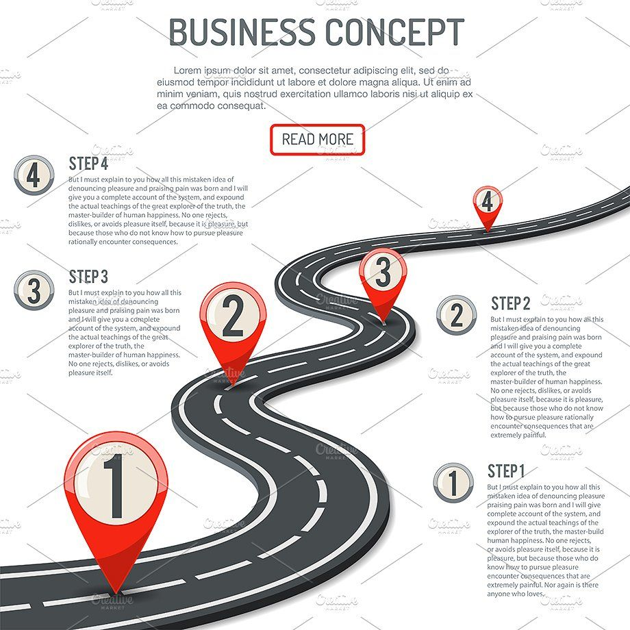 timeline road infographics themes  template illustration