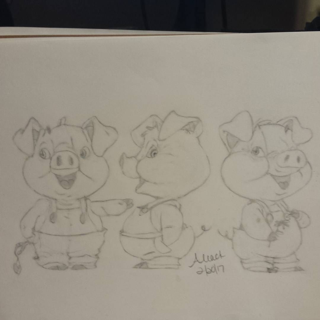 Three Little Pigs by me studying Disney sketch