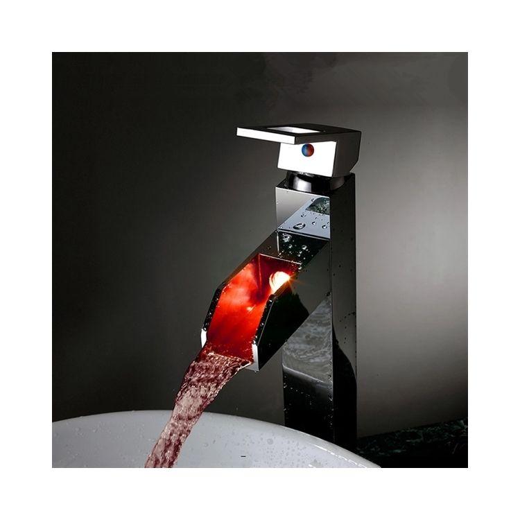 3色ledバス・洗面蛇口 水流発電 温度センサー付 水栓・faucets Pinterest Water