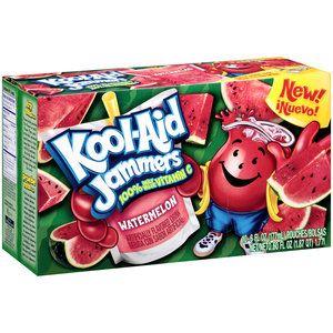 Kool Aid Jammers Watermelon Artificially Flavored Soft Drink 10 Ct Box 6 Fl Oz Pouches Walmart Com Kool Aid Flavored Drinks Watermelon Drink