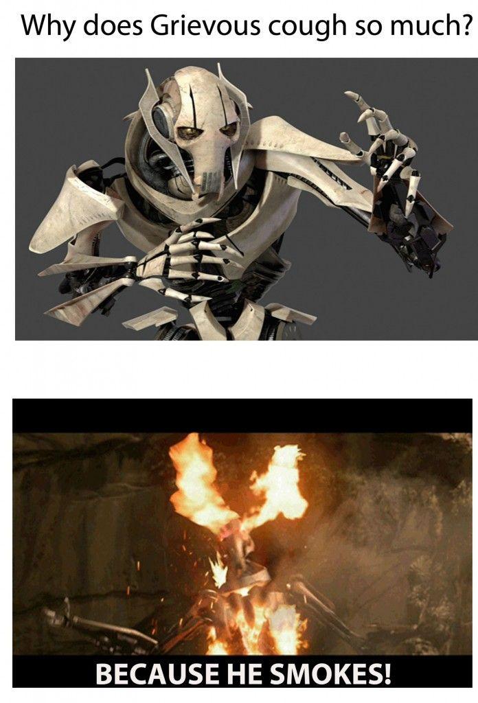 General Grievous Star Wars Characters Star Wars Humor Star Wars Memes