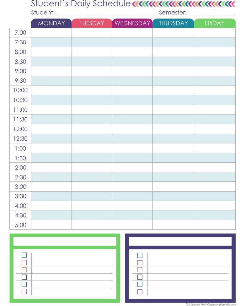 12 Detailed Planning Printables Are Included In This Expansion   Blank Time  Card Template  Detailed Schedule Template