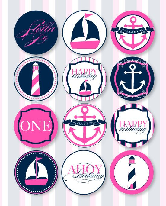 Nautical Birthday Party PRINTABLE Party Circles by por lovetheday ...