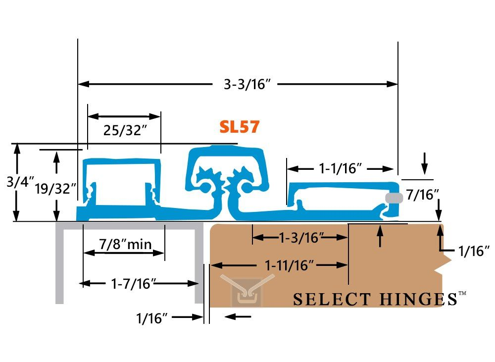 Select Hinges Sl57 83 Inch Hd Geared Full Surface Continuous Hinges Dark Bronze Finish Continuous Hinges Commercial Door Hardware Clear Finish