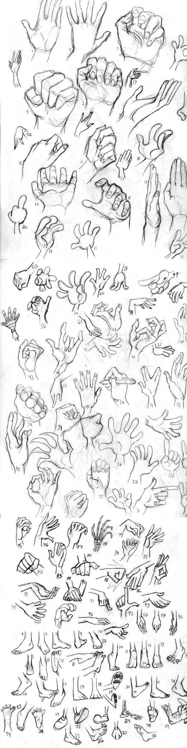 hands feet https://www.facebook.com/CharacterDesignReferences