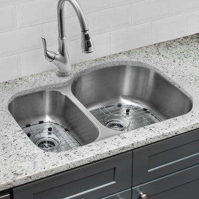 Cahaba 32 L X 21 W Double Basin Undermount Kitchen Sink With