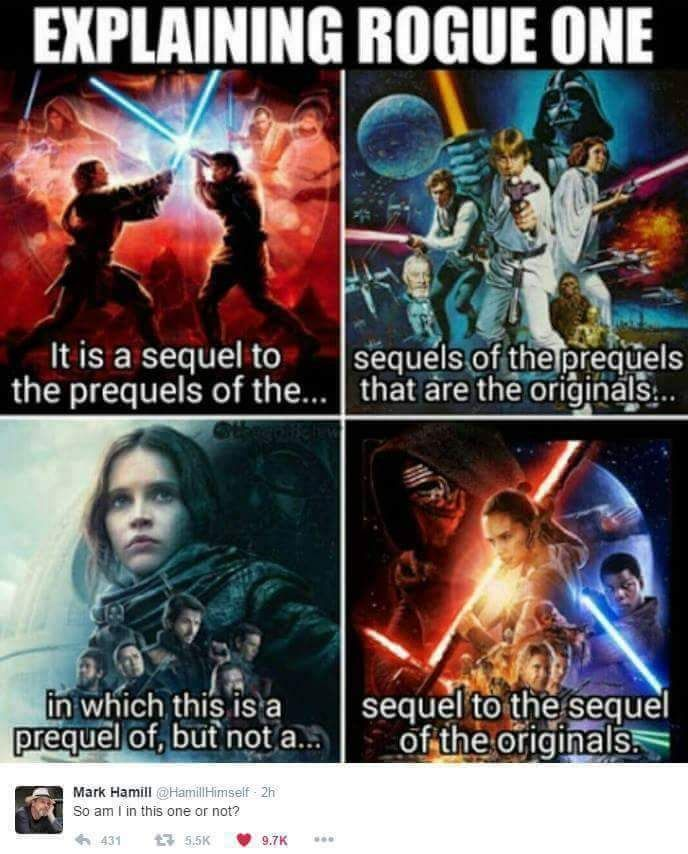 No Hamil These Sequels Are Getting Outta Hand Get It Star Wars Humor Star Wars Memes Star Wars Fandom