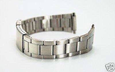 18mm to 20mm Standard Matte Stainless Steel Sports Watch Bracelet