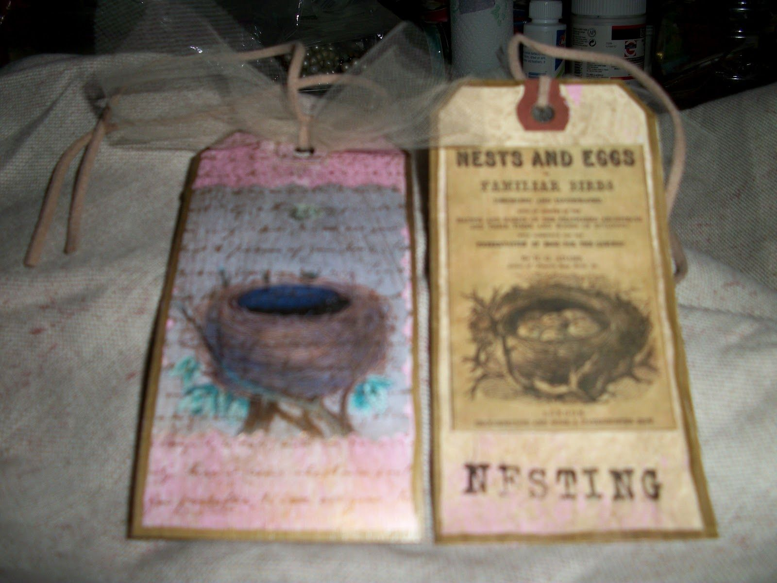 Distressed Donna Down Home: Bird Journal Tags - Part Two