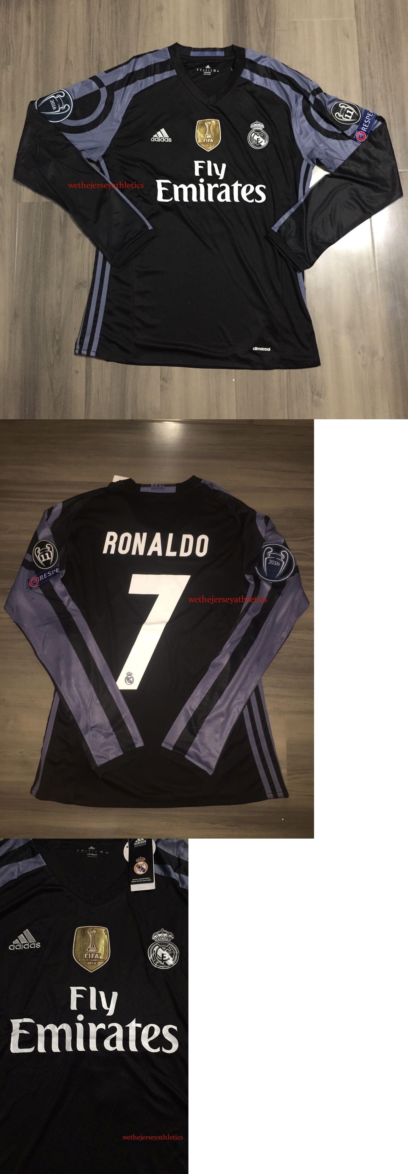 0f69614d0 ... Men 123490 Real Madrid Long Sleeve Cristiano Ronaldo Champions League Jersey  16 17 3Rd Kit Marcelo Real Madrid adidas 201617 Home FIFA ...