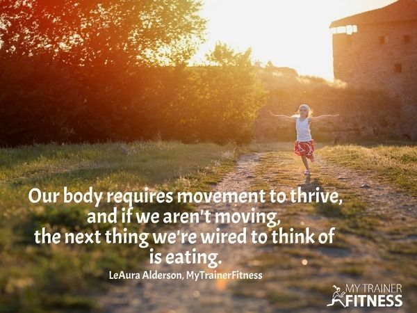 So the very best remedy for the desire for food when our body is overweight is to MOVE. Get up and m...