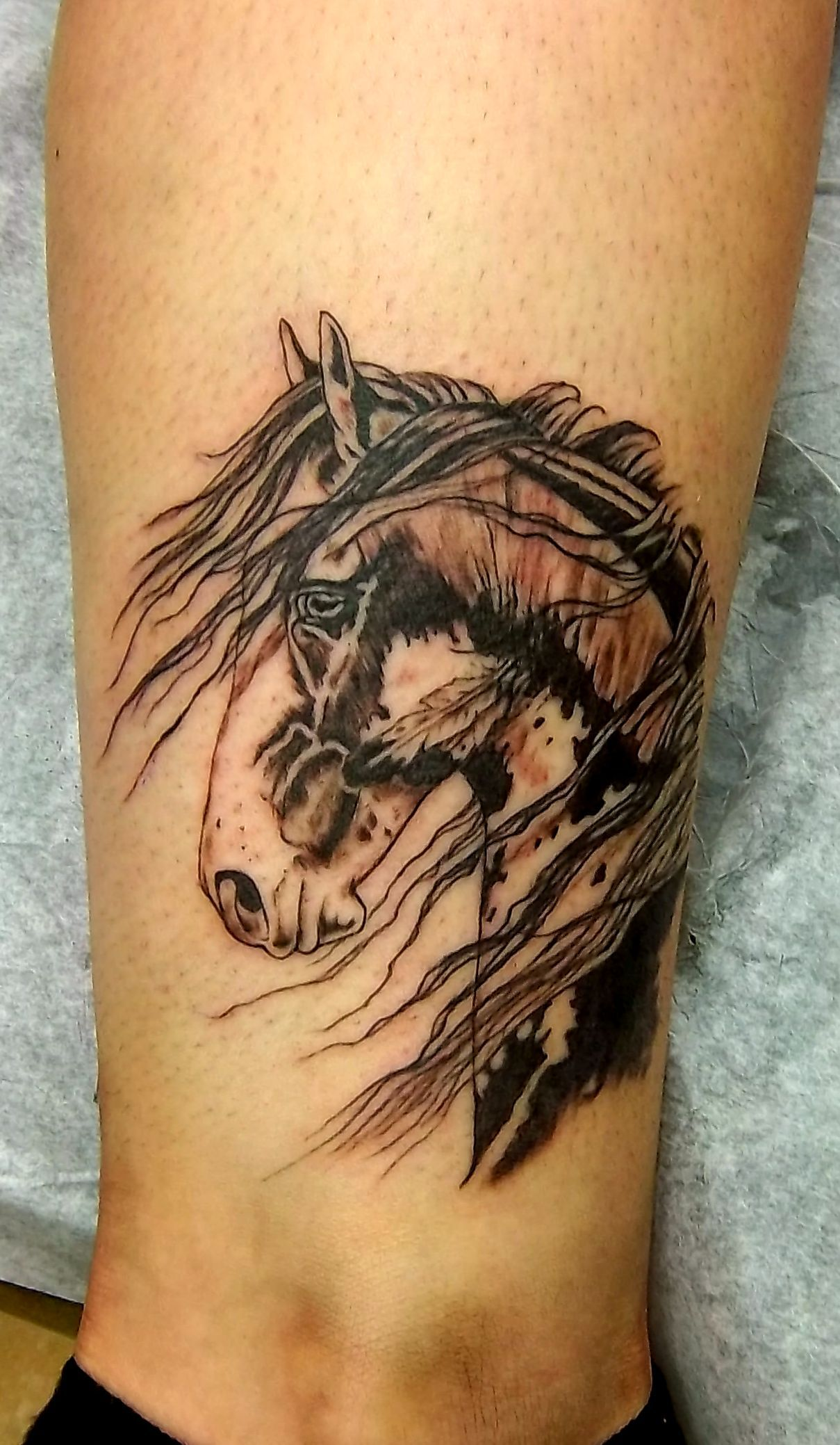 Ll find some other good examples of best horse tattoo design ideas - Indian Horse Tattoo