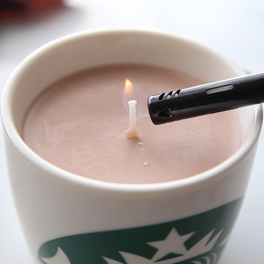 Photo of Pumpkin Spice Latte Candle DIY