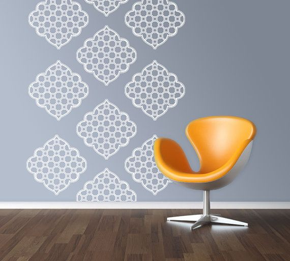 Decals That Look Like Wallpaper Or Painted Stencils Great For - Wall decals like wallpaper