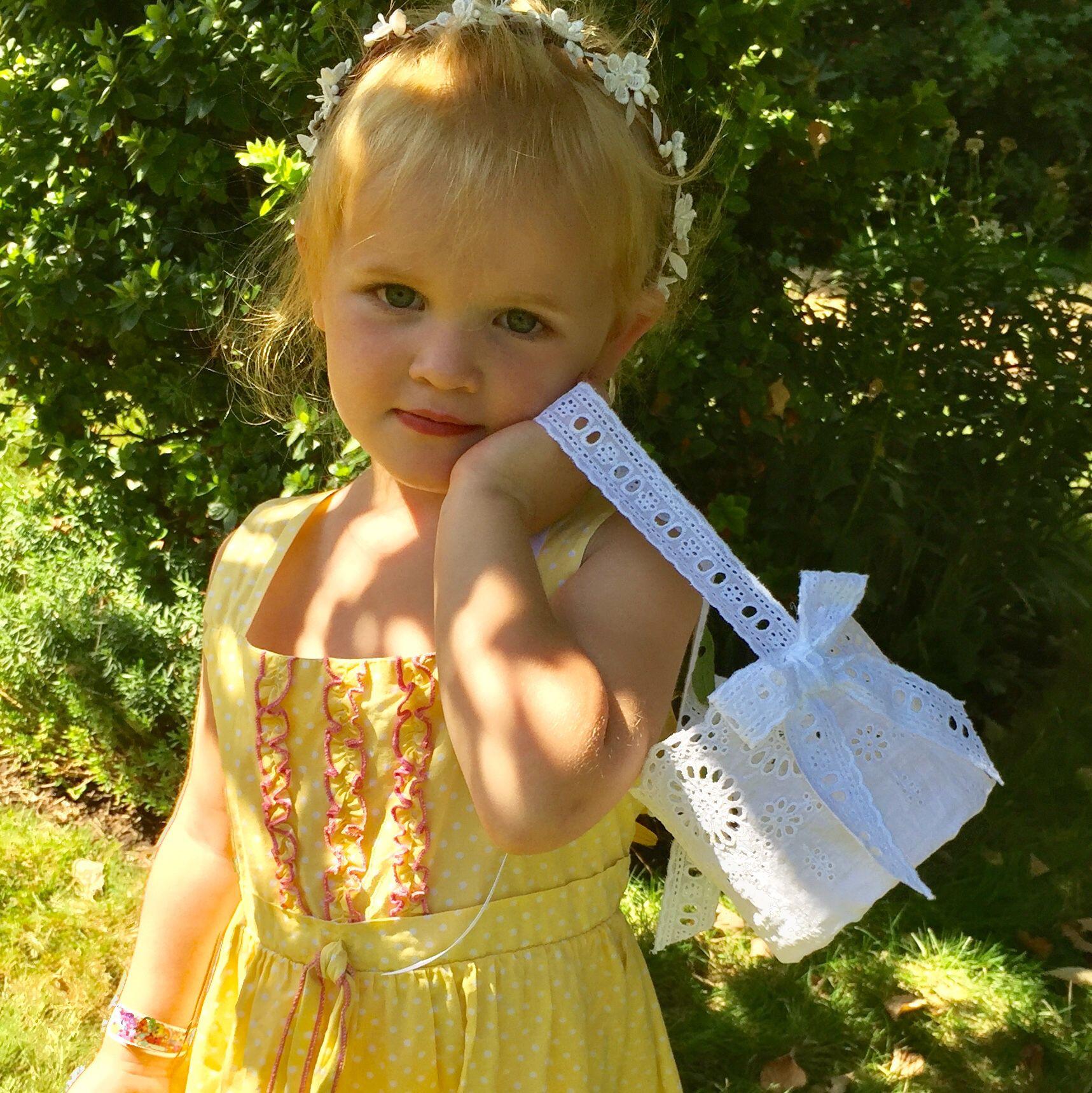 A Pretty Little Basket For Your Pretty Little Flower Girlhandmade