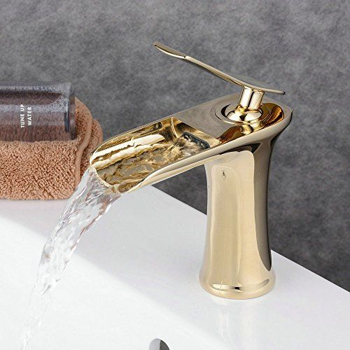 Antique Bronze Waterfall Bathroom Faucet Basin Mixer Tap With Hot And Cold Water Black Brush Nickel