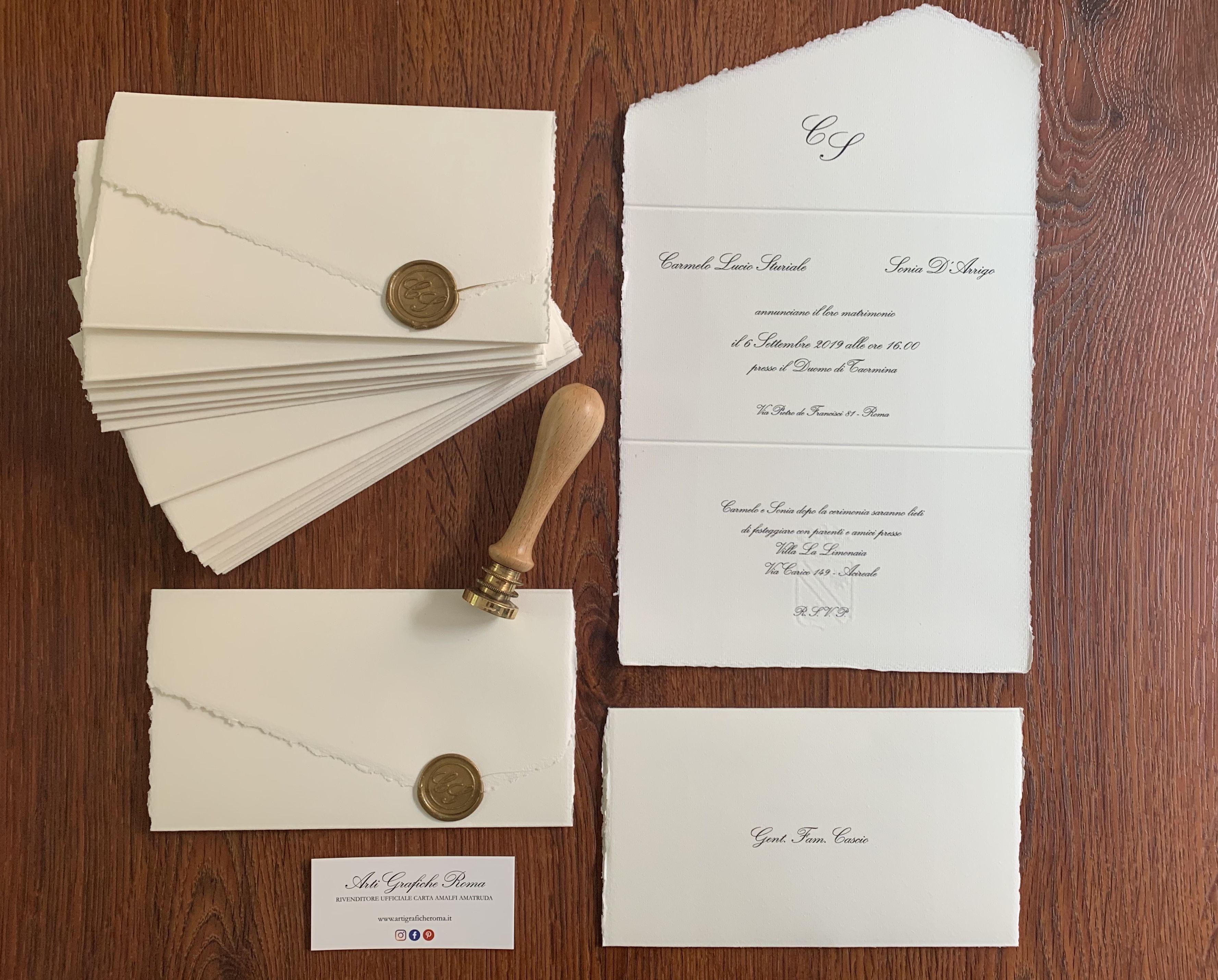 Partecipazioni Di Matrimonio In Carta Amalfi Partecipazioni Nozze Inviti Per Matrimonio Partecipazione Di Matrimonio
