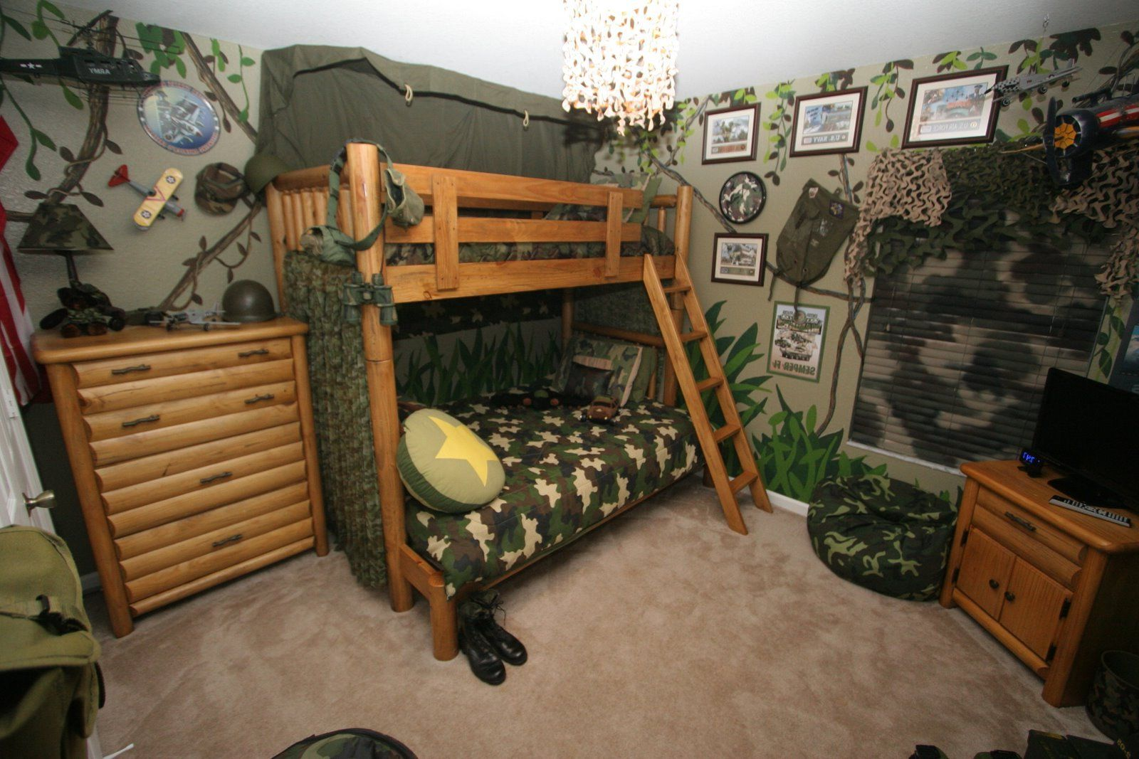 Kids Room Modern Boy Bedroom Ideas With Army Details Also Camo