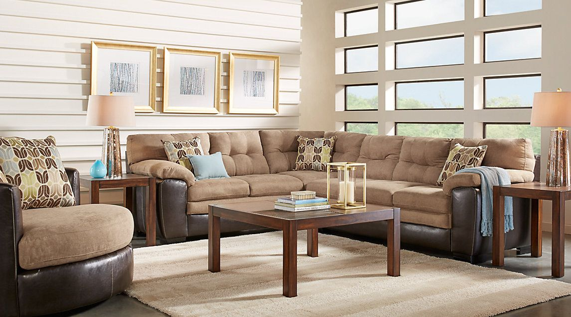 Best River Bluff Beige 2 Pc Sectional Living Room Sectional 400 x 300