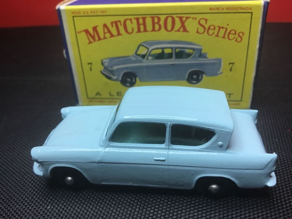Rare Vintage 1961 Lesney Matchbox 7 B Ford Anglia Unplayed With In Original Box Matchboxlesney Ford Matchbox Ford Anglia Original Box